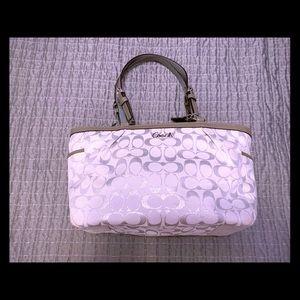 Silver sparkly Coach purse